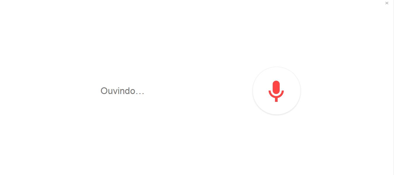 Pesquisa por voz: telefone ouvindo